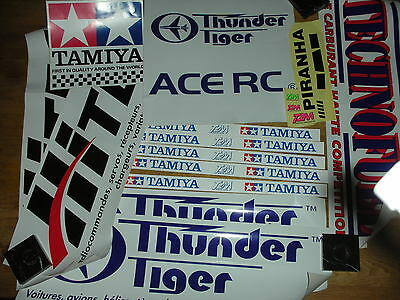 LOT aufkleber AUTOCOLLANT stickers TAMIYA T2M THUNDER TIGER ace rc racing HITEC