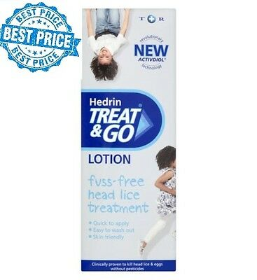 Hedrin Head Lice Treat & Go Lotion 50ml - Adults & Children No Pesticides nits