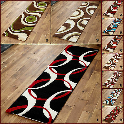 Modern Small Hand Carved Brown Green Thick Discount Area Rugs RUNNERS For Sale