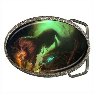 Norse Mythology Fenrir Chrome Finished Belt Buckle