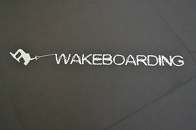 Sanctuaries Edge 30Cm White Wakeboarder Wakeboarding Wake Board Sticker Decal