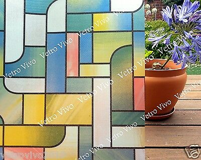 90 CM x 1 M - Stained Glass Removable Frosted Window Glass Film for privacy.AD