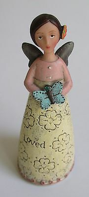 "s Celebrate Beauty May Loved Kelly Rae Roberts 4.5"" BIRTHDAY WISH ANGEL FIGURINE"