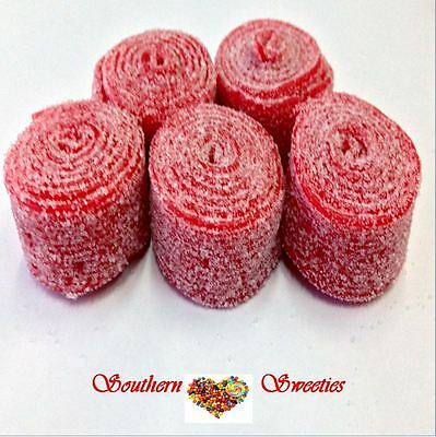 Fini Strawberry Rollers Red Candy Belts Lollies Wrapped