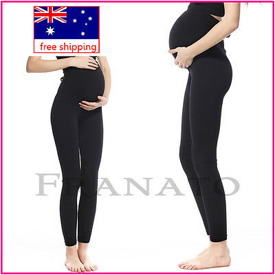 Black Pregnant Maternity Spandex Stretch Legging Tights/Pants Trousers Control