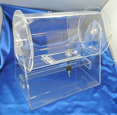 Small Clear Acrylic Raffle Drum holds up to 2000 Tickets or 60 Ping Pong Balls