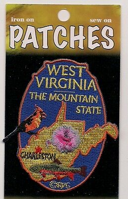 Souvenir Patch - State Of West Virginia - Mountain State - Charleston