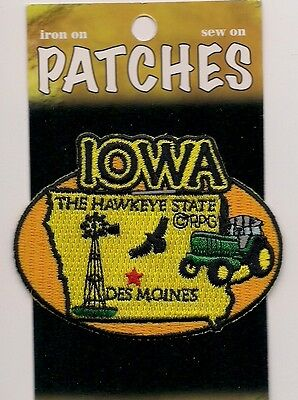 Souvenir Patch - State Of Iowa - Hawkeye State - Des Moines