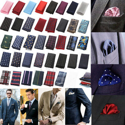 Satin Silk Pocket Square Hankie Hankerchief Wedding Formal Suit Blazer Jacket UK