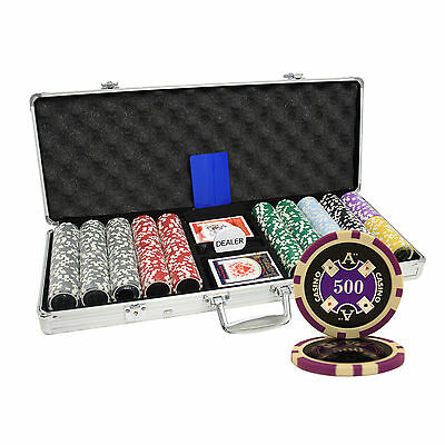500pcs 14G ACE CASINO TABLE CLAY POKER CHIPS SET CUSTOM BUILD