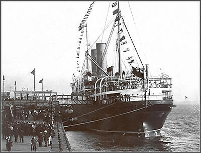 Poster Print: Empress Of Ireland, Stern View Docked At Liverpool, 1909