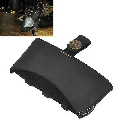 Black Leather Motorcycle Shift Guard Shifter Sock Boot Shoe Protector Cover Hot