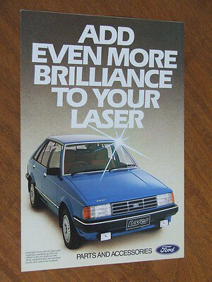 1983 Ford Laser original Australian 6 sided foldout Accessories brochure