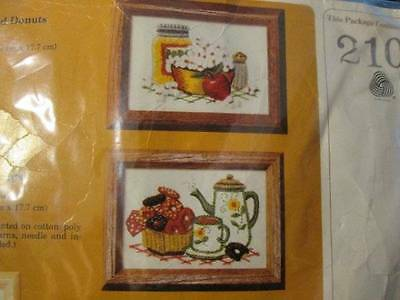Creative Circle Popcorn & Donuts Crewel Embroidery Kit #210