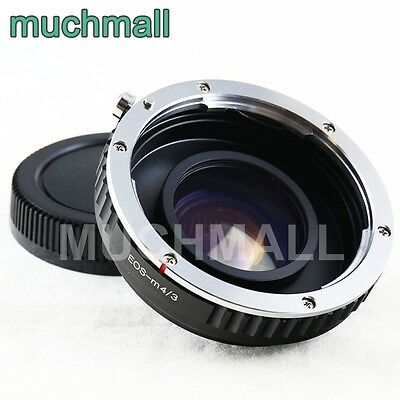 US Focal Reducer Lens Turbo Adapter for Canon EOS EF mount to Micro 4/3 GF6 MFT