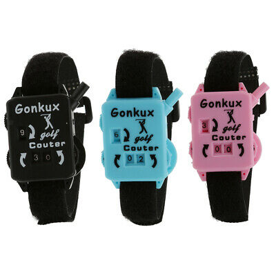 Golf Score Stroke Keeper Count Watch Putt Counter Shot with Wristband - 3 Colors