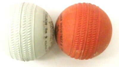 6 Indian Rubber Cricket Ball with Seam {See image} Indian Rubber Stumper Balls