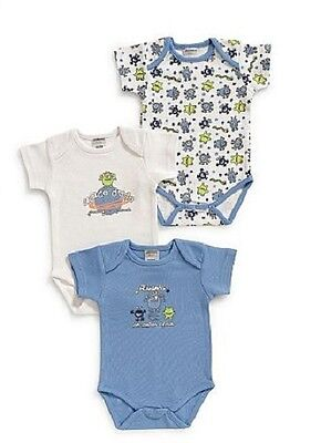 "Jacky Baby Body 3er-Pack ""Friends"" blau weiß Jungen Gr. 50/56 - 86/92"