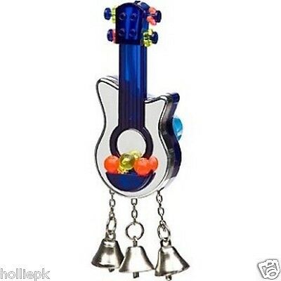 Jw Budgie Cockatiel Canary Bird Reflective Guitar Toy + Bells Interactive Beads