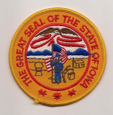 Souvenir Patch - The State Of Iowa - Seal