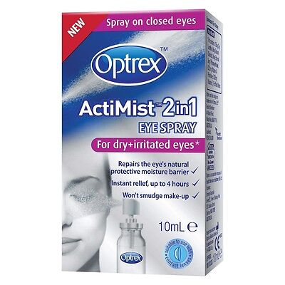 Optrex ActiMist™ 2in1 - For Dry + Irritated Eyes 10ml (0.34oz)