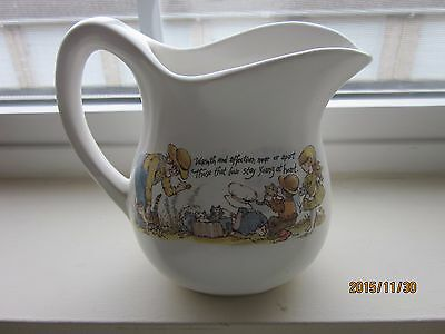 """Small Pitcher Ceramic 5""""H Ivory made in USA"""