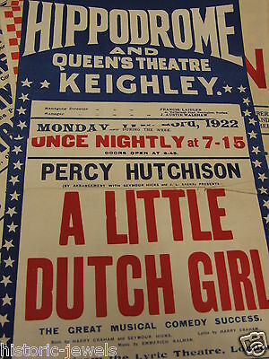 Hippodrome Keighley Queens Theatre poster 1922