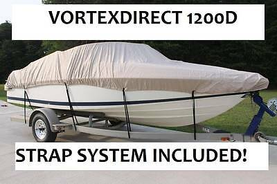 "New Vortex Super Heavy Duty 1200D Beige 17'6"" Fishing/ski/runabout/boat Cover"