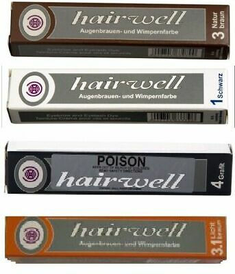 Hairwell Eyelash /Eyebrow Tint black,brown, grey,Blue, light brown BROW tints