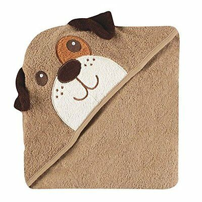 Luvable Friends Animal Face Hooded Towel, Brown Dog 100% Cotton Terry