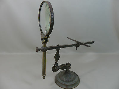 Rare Antique James Cremer Bronze Graphoscope Photograph Stereoviewer 1875 Patd