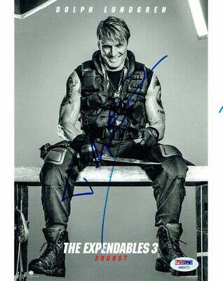 Dolph Lundgren Signed The Expendables Autographed 8x10 Photo PSA/DNA #AB55773