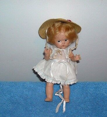 Antique Vogue Toodles Pre-Ginny Baby Doll Composition 7""