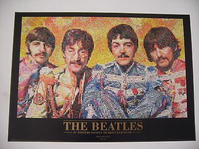 Beatles Photomosaic By Robert Silver  Authentic 1999 Poster