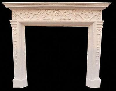 Gorgeous Crown Ivory Solid Marble Fireplace Mantel #3903