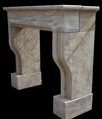 Simple, Clean Lines on this Marble Fireplace Mantel with French Old World Design