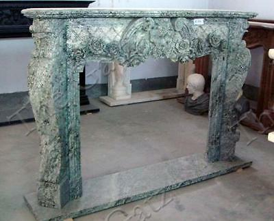 Lovely French Style Hand Carved Marble Fireplace Mantel #3858