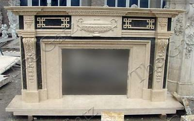 Contemporary Multi Tone Marble Fireplace Mantel #3896