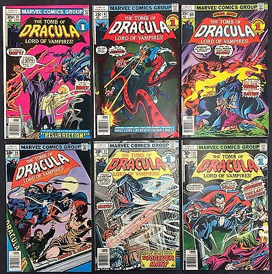 Marvel The Tomb of Dracula - Comic Books (Lot of 6) Vintage 1970's