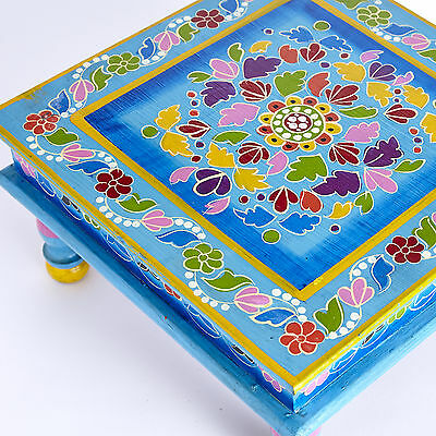 Hand Painted Indian Bajot Table by Bell Tent Boutique