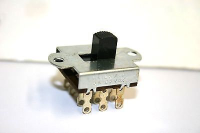 25 pcs. Slide Switch--4PDT--ON-ON--125VAC@6A