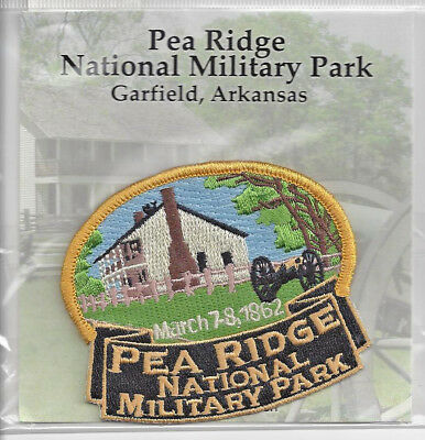 Souvenir Travel Patch - Pea Ridge National Military Park - Garfield Arkansas