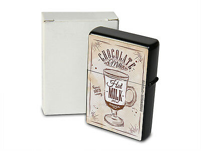 Pocket Windproof Lighter Brushed Oil Refillable Hot chocolate