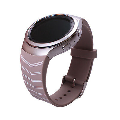 1pc Beige with Stripes Band Strap for Samsung Galaxy Gear S2 SM-R720 Smart Watch