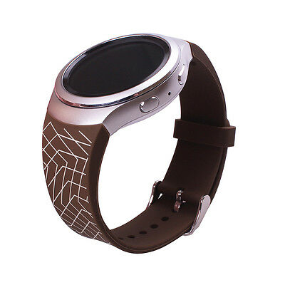 1pc Coffee with Stripes Band Strap for Samsung Galaxy Gear S2 SM-R720Smart Watch