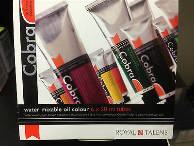Cobra Artist Water Mixable Oil Set - 6 x20ml