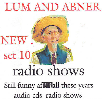Lum and Abner & Mars rocket 41 radio shows 7  audio cds set 10 OTR cds