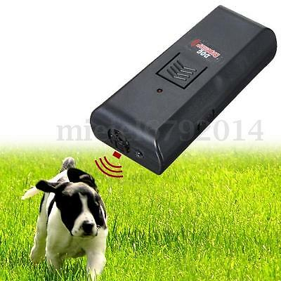 Dog Pet Ultrasonic Repeller Anti-Bark Training Obedience Device Sound Trainer