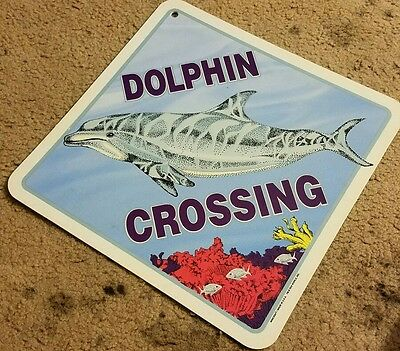 DOLPHIN CROSSING Sign Made in U.S.A. SEA WORLD