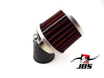 UNIVERSAL JBS PERFORMANCE 32mm 45 DEGREE RED/CHROME POD AIR FILTER CLEANER